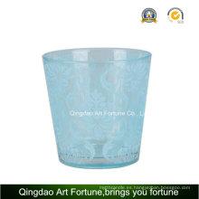 Candelabro de cristal de la galjanoplastia para la decoración de la vela de Tealight