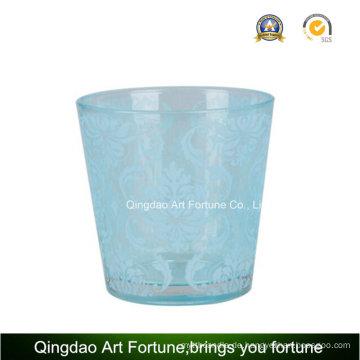 Silber Beschichtung Glas Kerzenständer für Teelicht Kerze Dekoration