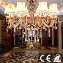 Éclairage de lustre en cristal décoratif de salon d'hôtel vintage