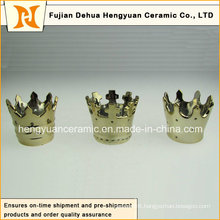 Hot Sale, Small Creative Crown Shape Ceramic Candle Holders (home decoration)