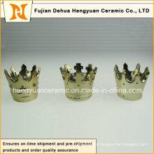 Горячее сбывание, малые творческие держатели свечки формы короны керамические (домашнее украшение)