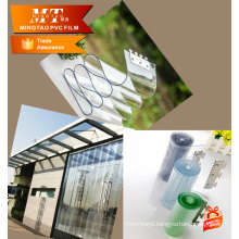 Easily cleaned thick clear vinyl roll plastic sheet pvc rigid film 0.5mm thick for door