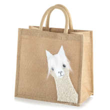 Customize Promotional Reusable Eco Friendly Shopping Jute Tote Bag with Cartoon Animation