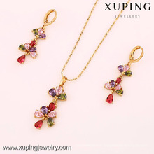 61698- Xuping Crystal jewelry fancy type jewelry set bride