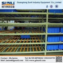 Prateleiras de aço fluxo de armazenamento de gravidade quente venda armazém bandejas caixa de China