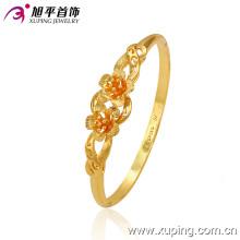 Мода Pretty 24k золото -Свадебный цветок браслет