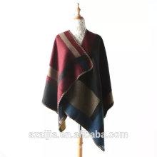 New arrival acrylic warm poncho pashmina scarf