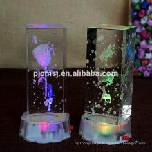 Mangueira de laser 3D com bolha K9 cubo de cristal para dia dos namorados