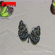 Tissu en popeline de rayonne tissée de haute qualité pour vêtements