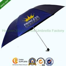 21 Inch Slim Three Fold Umbrella with Customized Logo (FU-3721NB)