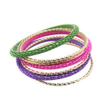 Metal bangles, fashion colored with snap button