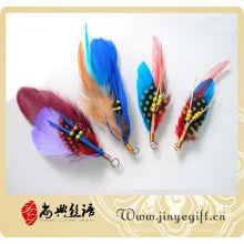 Belle plume netural colorée en gros