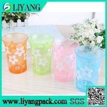 Design de cor branca simples, filme de transferência de calor para copo de plástico