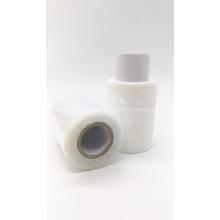 White translucent stretch wrap film roll