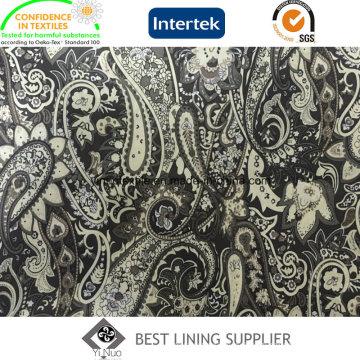 100% полиэстер одежда лайнера подкладке напечатаны подкладочная ткань