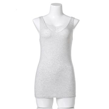 Camisola de alças feminina de algodão orgânico com logotipo OEM