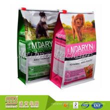 Nach Maß 100% Nahrungsmittelgrad-quadratischer unterer Schieber-Reißverschluss-wiederverwendbarer Hundfest-Verpackungs-Beutel-Hundefutter-Verpackung