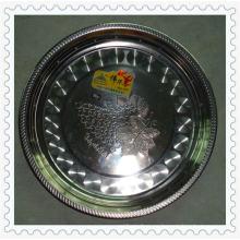 Venta caliente 30/32/34/36/38 cm Magnietic Flower Rim Stainless Steel Round Plate