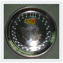 Hot Sale 30/32/34/36/38cm Magnietic Flower Rim Stainless Steel Round Plate