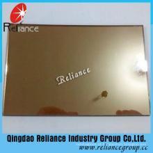 Vidro reflexivo de bronze dourado de 6mm com certificado do Ce