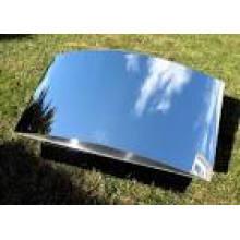 precio de fábrica spacular / espejo hoja de aluminio / bobina para luz LED utilizada o colector solar