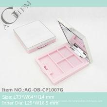 Kunststoff rechteckig Lidschatten Fall mit Spiegel AG-OB-CP1007G, AGPM Kosmetikverpackungen, benutzerdefinierte Farben/Logo