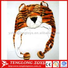 Hot Sale ! Lovely kids plush tiger animal winter hats