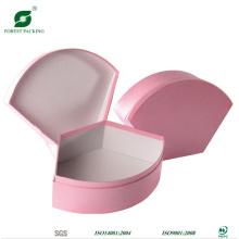 Caixa de presente rosa de papel personalizado de forma especial