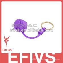 Фиолетовый Custom weave paracord связка ключей обезьяна кулак узел