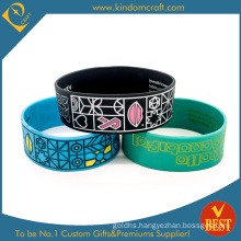 High Quality Custom Printing Logo Silicone Wristband for Promotional (LN-012)
