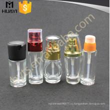 30мл 50мл оптом декоративная Покрашенная косметическая стеклянная бутылка лосьона с насосом