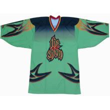 Logotipo fresco de la buena calidad del hielo Jersey del hockey barato