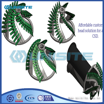 Steel cutter head design