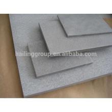 Panneau de ciment de fibre de couleur gris de 4 'x 8'