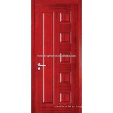 Trade Assurance artesano puerta teca panel de madera moldeada diseños de puertas principales