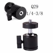 360 Degree Swivel Mini Ball Head Ball head 1/4'' & 3/8'' Screw for Camera Tripod Monopod Studio