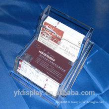 Porte-carte acrylique