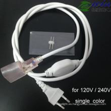 Cable de fuente de alimentación impermeable de neón del LED para la CA 120V / 240V