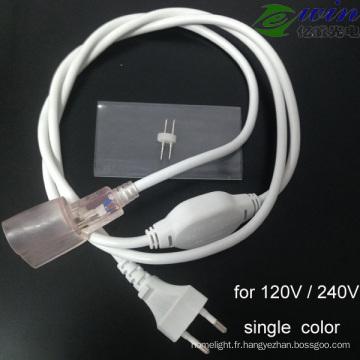 Cordon d'alimentation résistant à l'eau pour AC haute tension LED Neon Flex