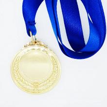 Médaille de haute qualité personnalisée peinture or avec rubans