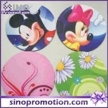 Heiße Silikon-Untersetzer-runde Tierdruck-Schalen-Matte