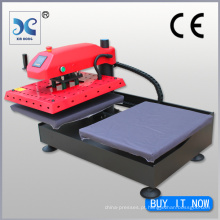 FJXHB1-2 Estações de trabalho intercambiáveis duplas Máquina de pressão pneumática para camisas T