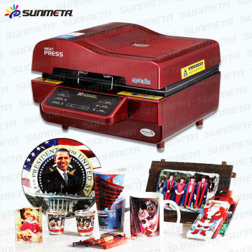 Sunmeta 3D sublimação vácuo Heat Press Machines