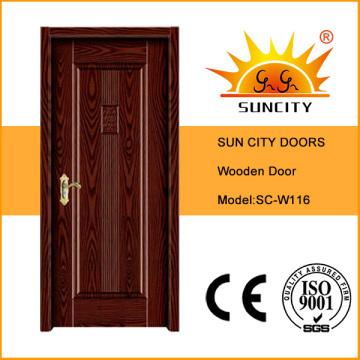 Самая последняя Конструкция Индонезия массивная деревянная дверь (СК-W116)