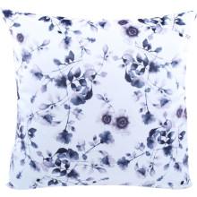 Coussin imprimé floral violet
