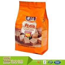 Sacs en aluminium faits sur commande stratifiés de papier d'aluminium de catégorie comestible en plastique de couche multiple pour l'emballage de biscuits / biscuits