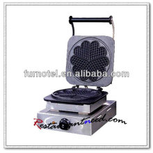 K320 1 Cabeça Quincuncial Elétrica de aço inoxidável Waffle Baker