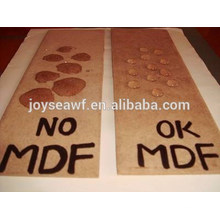 Tabla impermeable del mdf / tablero impermeable del mdf del agua / mdf verde impermeable