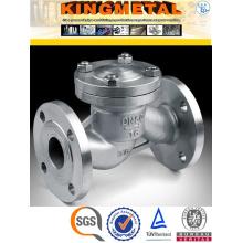 1/2/3/4 tipos de aço inoxidável da válvula de verificação da água do PC Pn16 CF8m