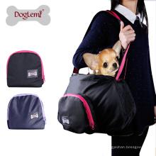 Portador dobrável respirável portátil do gato do animal de estimação do saco de portador do cão de estimação da malha